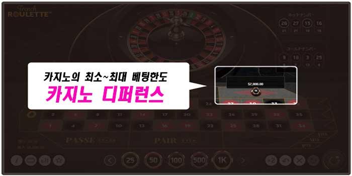 마틴베팅 시스템의 장애물 카지노 디퍼런스(Casino Difference)